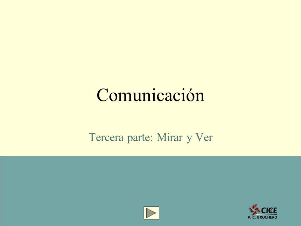 1 Comunicación Tercera parte: Mirar y Ver