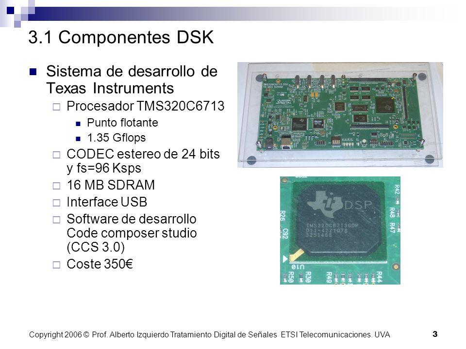 Copyright 2006 © Prof.Alberto Izquierdo Tratamiento Digital de Señales ETSI Telecomunicaciones.