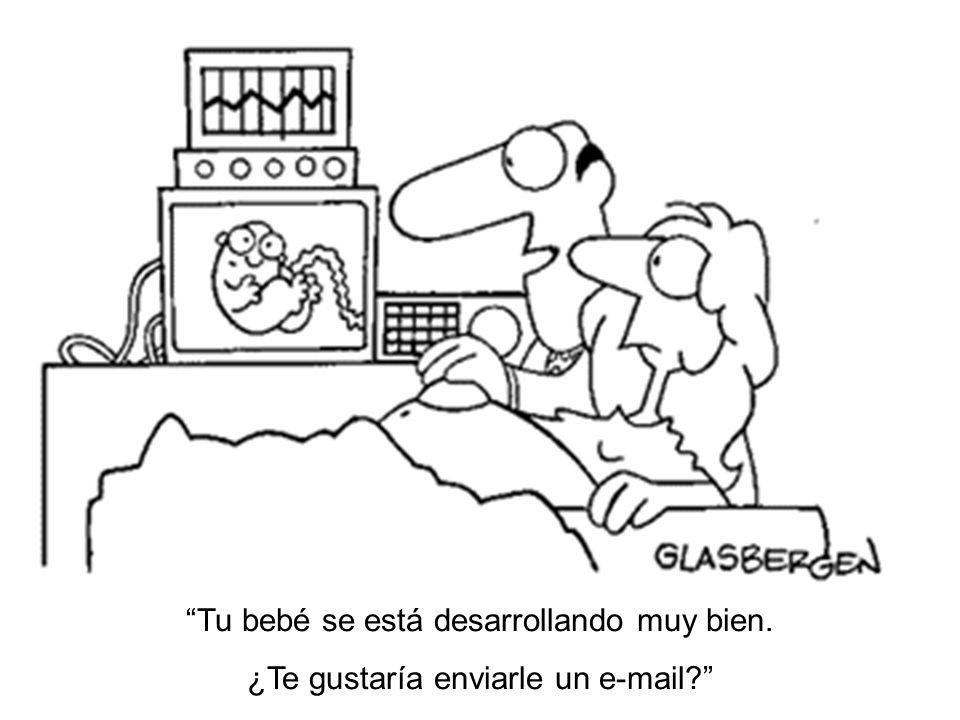 Tu bebé se está desarrollando muy bien. ¿Te gustaría enviarle un e-mail?