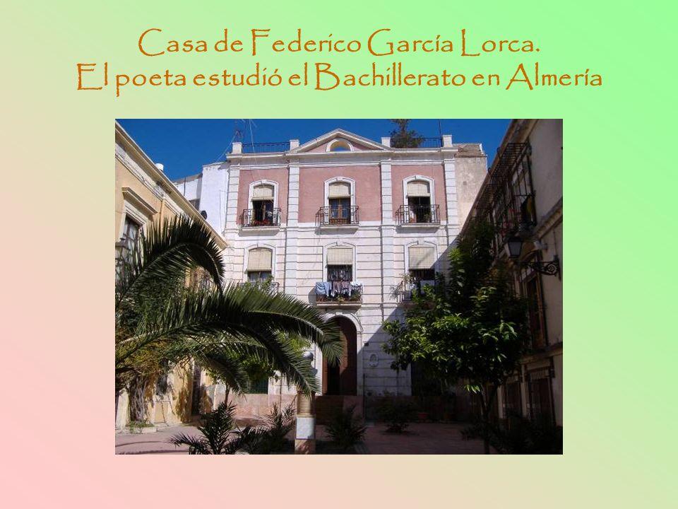 Casa de Federico García Lorca. El poeta estudió el Bachillerato en Almería