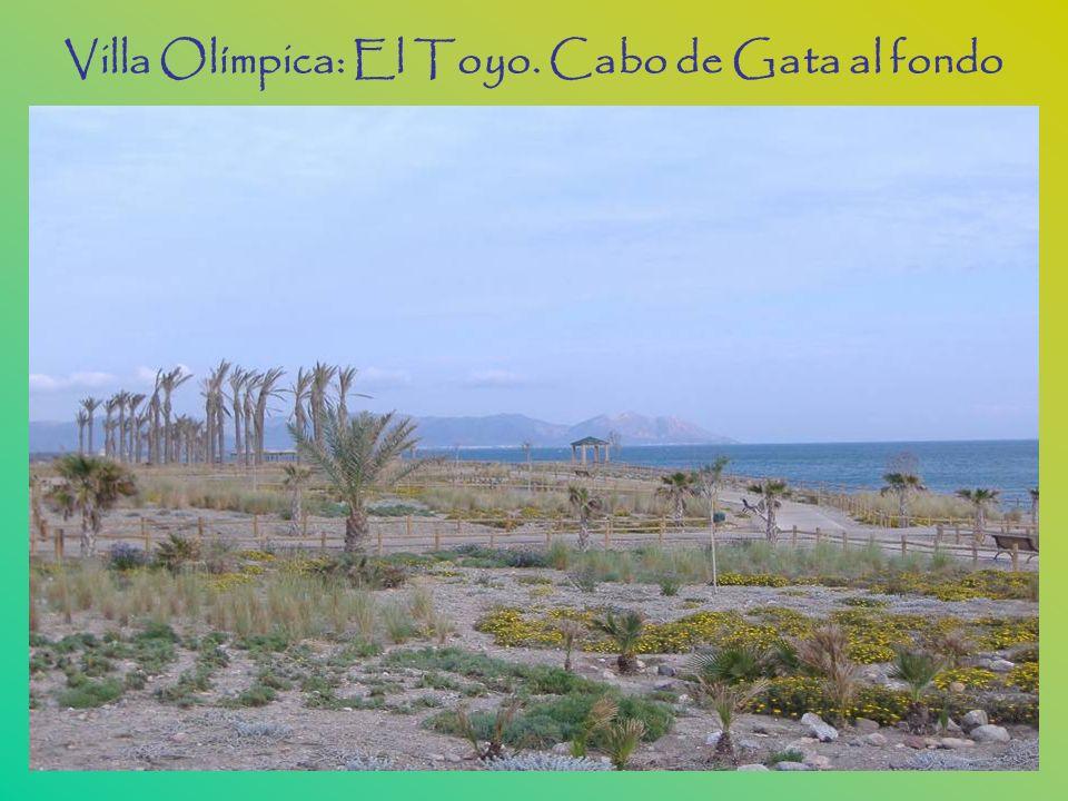 Villa Olímpica: El Toyo. Cabo de Gata al fondo