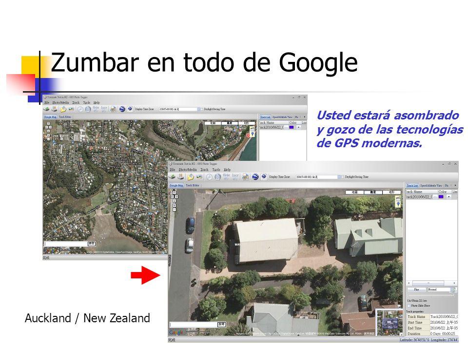 Zumbar en todo de Google Auckland / New Zealand Usted estará asombrado y gozo de las tecnologías de GPS modernas.
