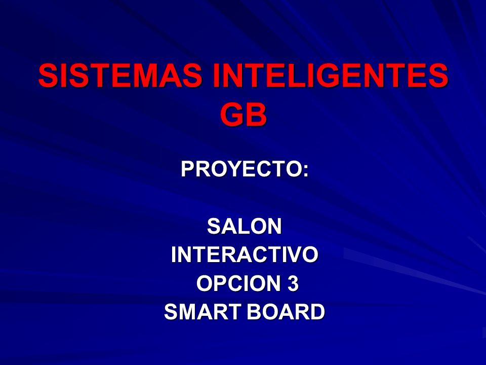 PROYECTO:SALONINTERACTIVO OPCION 3 OPCION 3 SMART BOARD SISTEMAS INTELIGENTES GB