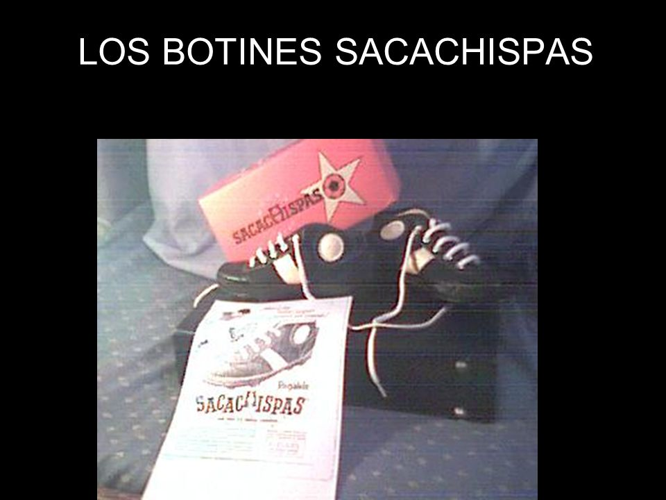 LOS BOTINES SACACHISPAS