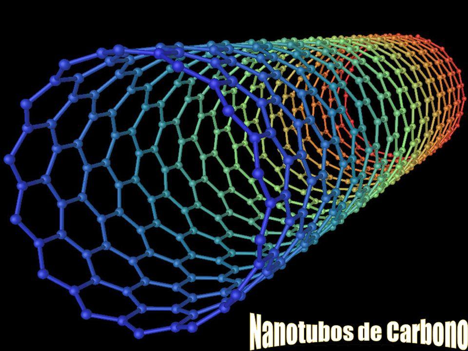 En química, se denominan nanotubos a estructuras tubulares cuyo diámetro es del tamaño del nanómetro.