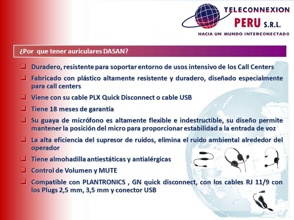 Duradero, resistente para soportar entorno de usos intensivo de los Call Centers Duradero, resistente para soportar entorno de usos intensivo de los C