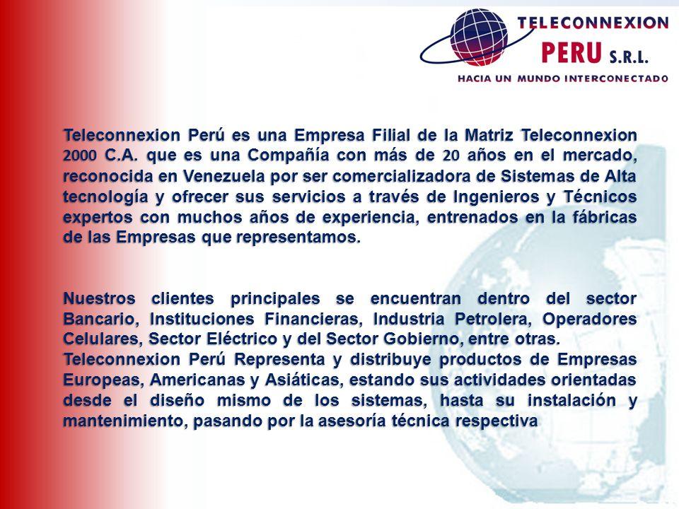Teleconnexion Perú es una Empresa Filial de la Matriz Teleconnexion 2000 C.A. que es una Compañía con más de 20 años en el mercado, reconocida en Vene