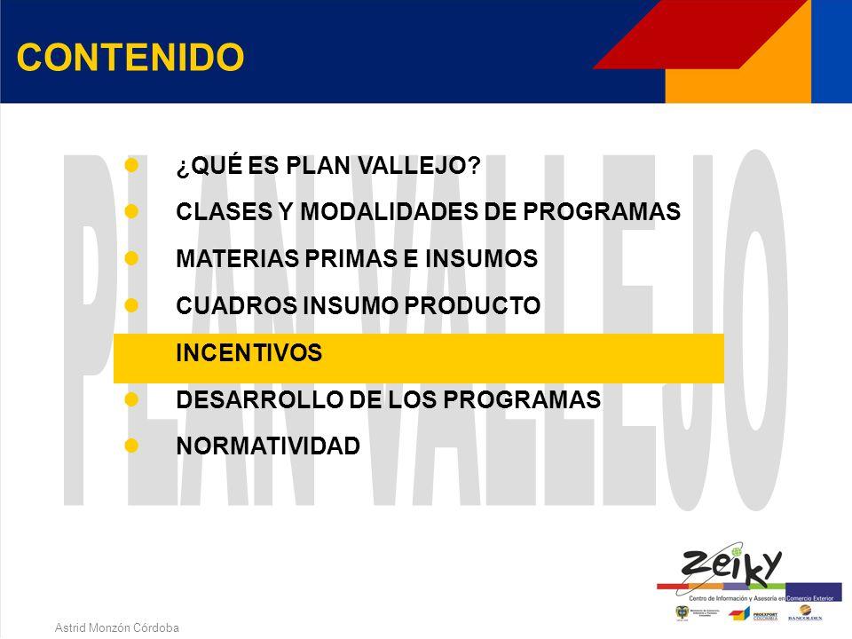 Astrid Monzón Córdoba INCENTIVO Exención total de tributos aduaneros (IVA y arancel) TERMINO PARA PRESENTAR REGISTRO DE IMPORTACION Eliminado requisit