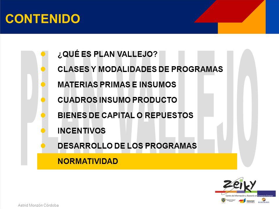 Astrid Monzón Córdoba MODIFICACIÓN A LOS PROGRAMAS Aumento de cupo Disminución de cupo Cesión de cupo Subrogación Cambio de razón social Cambio de mod