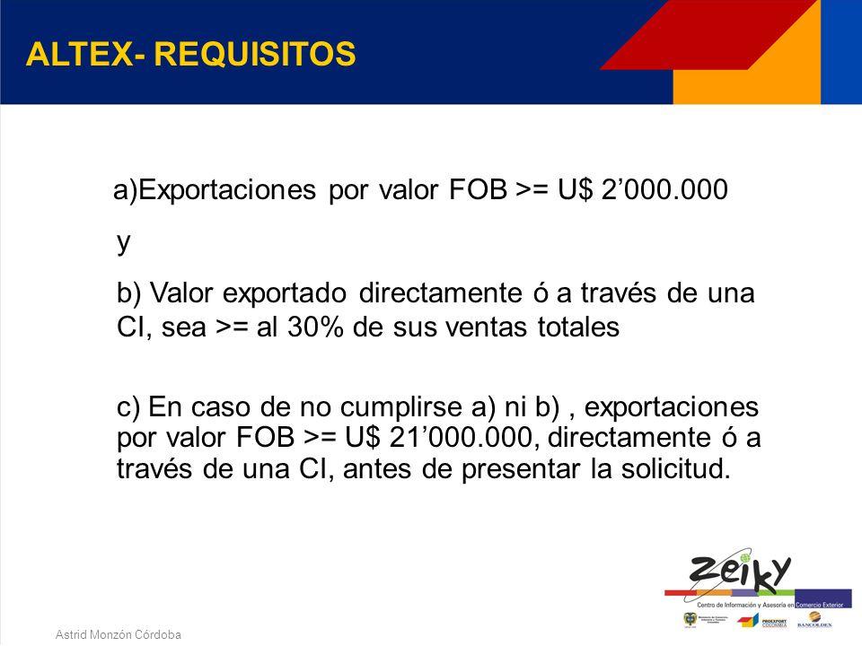 Astrid Monzón Córdoba Persona jurídica que haya sido reconocida e inscrita como tal por la Dirección de Impuestos y Aduanas Nacionales, previo el cumplimiento de los requisitos señalados en el decreto 2685/99(Art.35) 4.