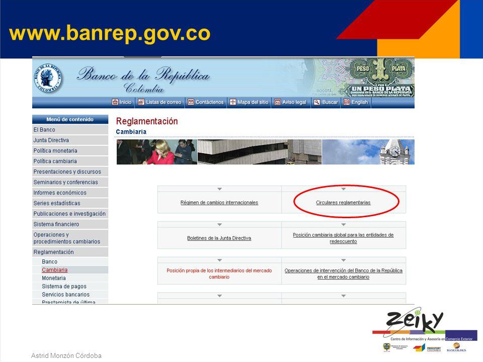 Astrid Monzón Córdoba www.banrep.gov.co