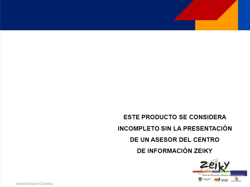 Astrid Monzón Córdoba PROGRAMA DE FORMACION EXPORTADORA Derechos Reservados de Autor Proexport Colombia 2005