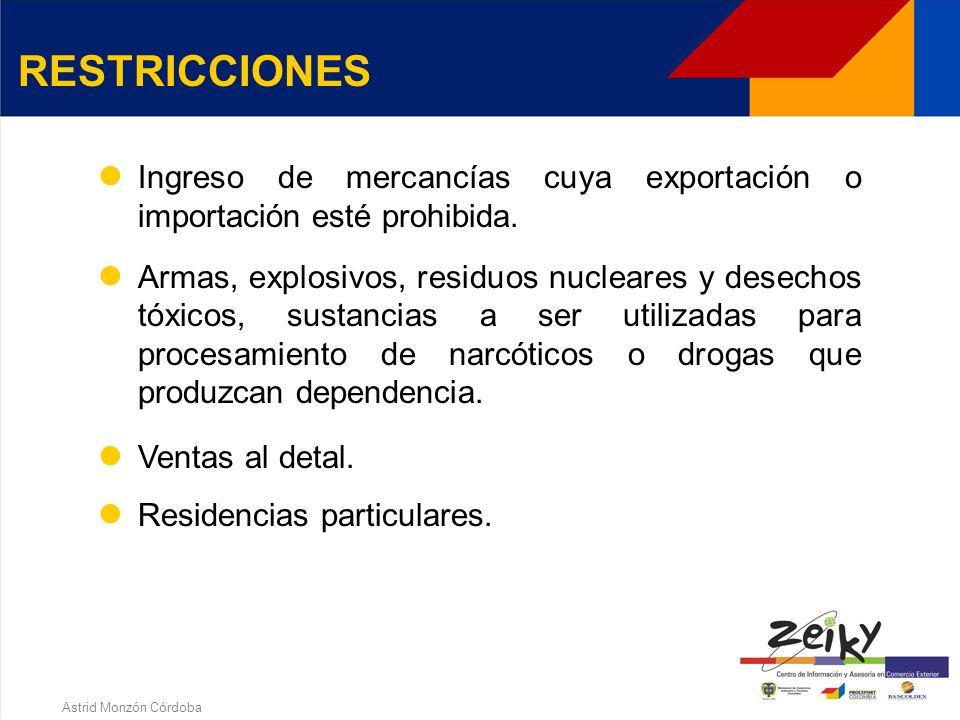 Astrid Monzón Córdoba Ubicación geográfica estratégica: cercanía a puertos o aeropuertos y principales vías de acceso. Servicios complementarios: tele