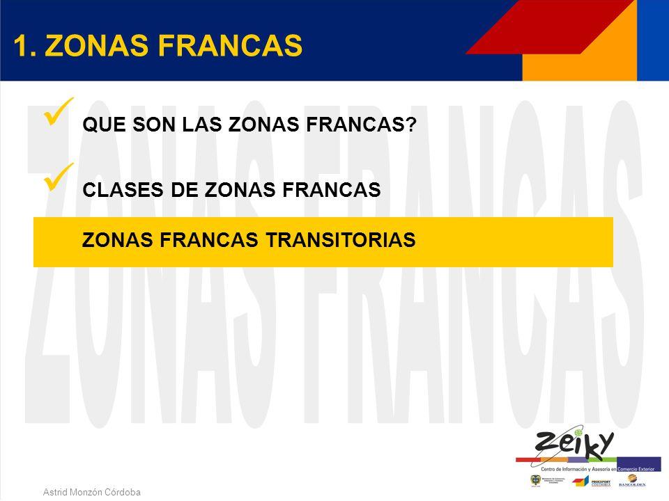 Astrid Monzón Córdoba UBICACIÓN GEOGRAFICA ZONAS FRANCAS EN FUNCIONAMIENTO (9)