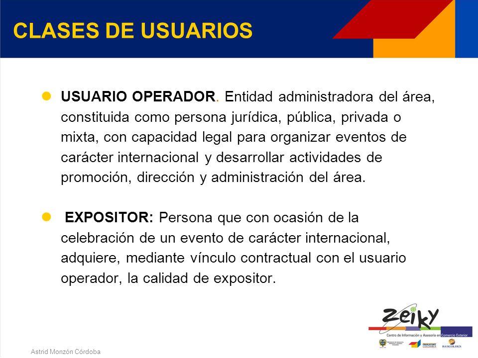 Astrid Monzón Córdoba Brindar condiciones para competir en los mercados internacionales Fomentar el intercambio de bienes de origen extranjero o de lo