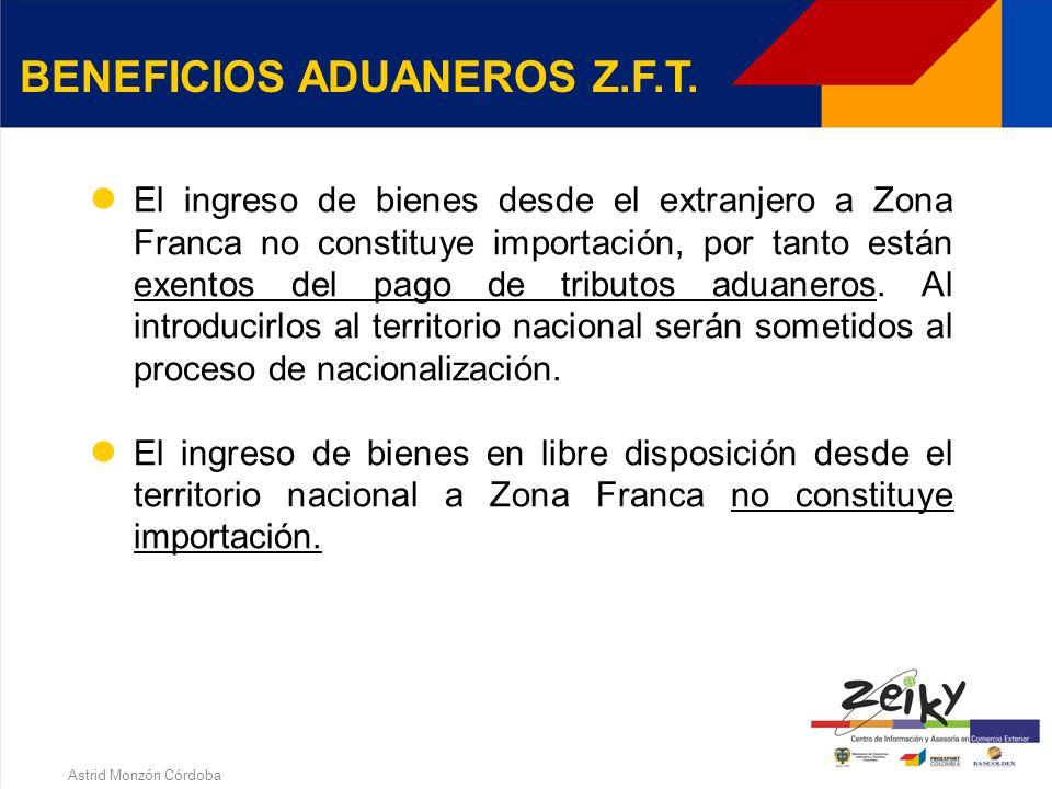 Astrid Monzón Córdoba Cuando se requiera autorización para que una empresa pueda exponer en una Z.F.T. DIRECCION DE IMPUESTOS Y ADUANAS NACIONALES DIA