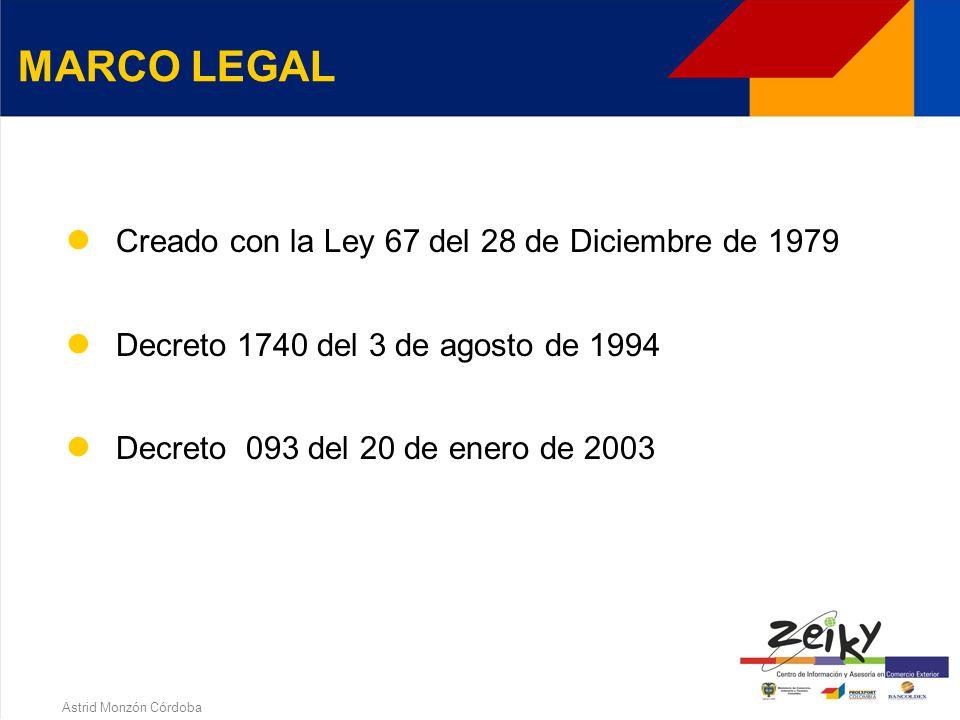 Astrid Monzón Córdoba Las Sociedades de Comercialización Internacional son empresas jurídicas nacionales o mixtas que tienen por objeto principal la venta de productos colombianos en el exterior con beneficios tributarios en la compra nacional (Dec.