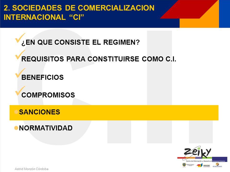 Astrid Monzón Córdoba Presentar a la División de Registro y Control de la Subdirección de Comercio Exterior de la DIAN cada cuatro meses informe de los C.P.