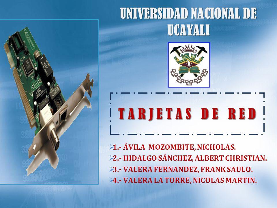 UNIVERSIDAD NACIONAL DE UCAYALI 1.- ÁVILA MOZOMBITE, NICHOLAS. 2.- HIDALGO SÁNCHEZ, ALBERT CHRISTIAN. 3.- VALERA FERNANDEZ, FRANK SAULO. 4.- VALERA LA