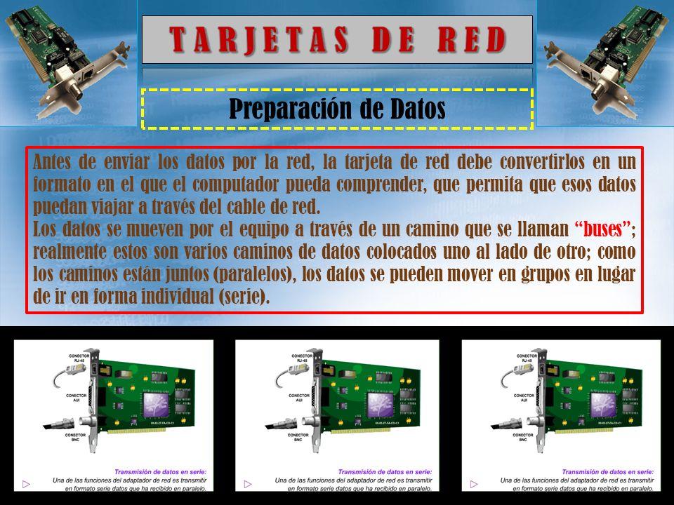 Rol de una Tarjeta de Red Una tarjeta de red es la interfaz física entre el ordenador y el cable.
