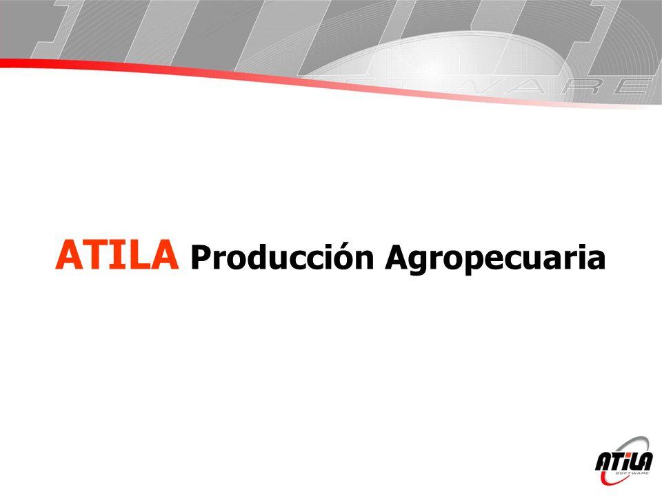Producción Agropecuaria: Resumen general El Sistema Atila Gestión Agropecuaria se compone a su vez de dos grandes Sistemas Integrados, Producción Agropecuaria y Atila 5.1 (Campo) para la Administración.