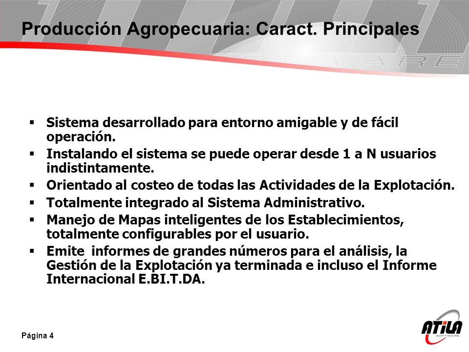 Página 5 Producción Agropecuaria: Información Requerida Labor Que Labor se hizo.