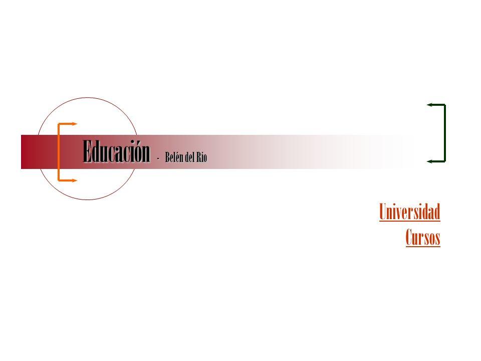 http://bdelrio.my3gb.com/ Belén del Río - CV Educación UNIVERSIDAD –Licenciada en Ciencias de la Información, especialidad Periodismo por la Universidad Pontificia de Salamanca, Salamanca, España, (Oct 1991 - Jun 1996) CURSOS –MS PowerPoint, Instituto Europa, Vitoria, España, 20 horas, (Jun 2010) –Curso de ONU y Operaciones de Mantenimiento de Paz, World Federation of United Nations Associations en Venezuela (Nueva York – Ginebra), 10 horas, (Nov 2009).