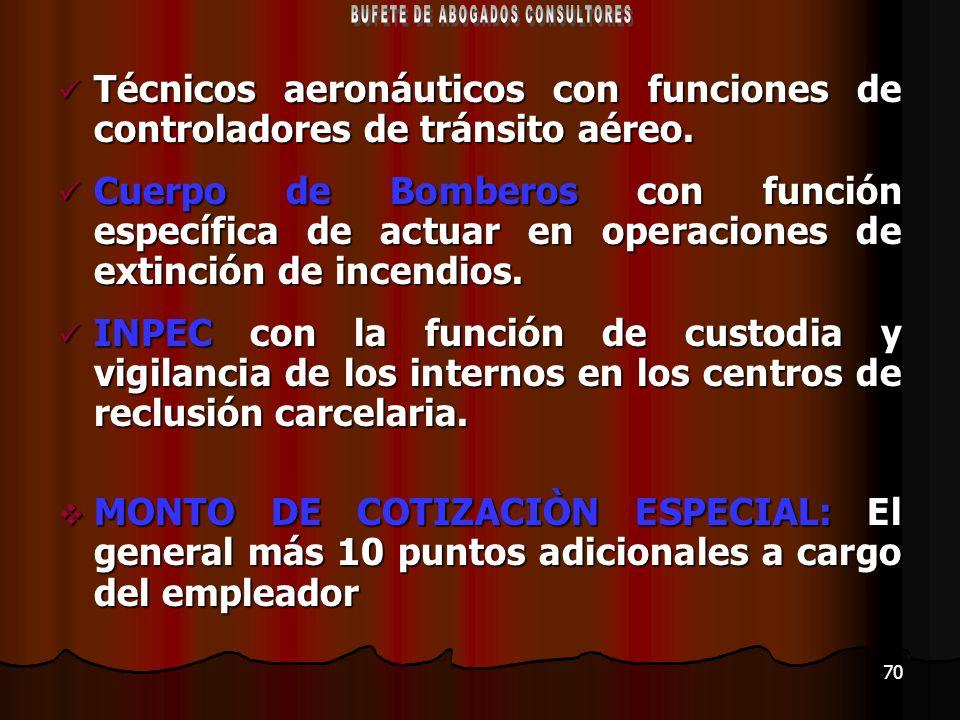 70 Técnicos aeronáuticos con funciones de controladores de tránsito aéreo. Técnicos aeronáuticos con funciones de controladores de tránsito aéreo. Cue