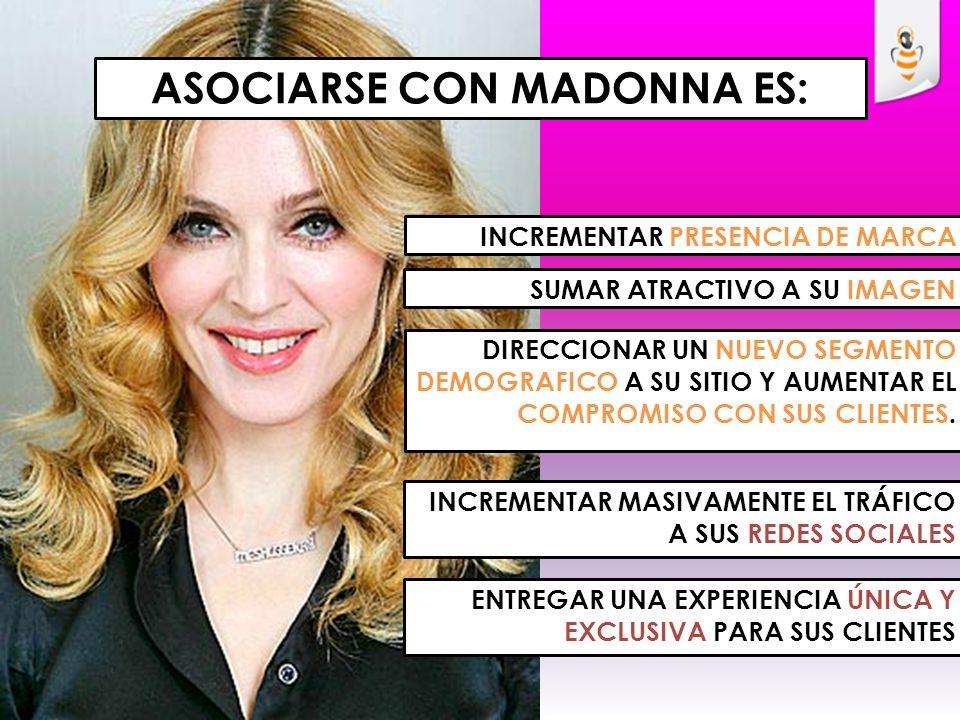 1er Single Give Me All Your Luvin 2 nd Single Girl Gone Wild Cover Album - MDNA Campaña Target de usuarios: Hombres/mujeres entre 15 y 50 años, (Cobertura todo Chile).