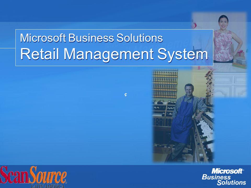 Microsoft RMS HeadQuarters HQ Manager – Pantalla de administración del sistema para múltiples tiendas.