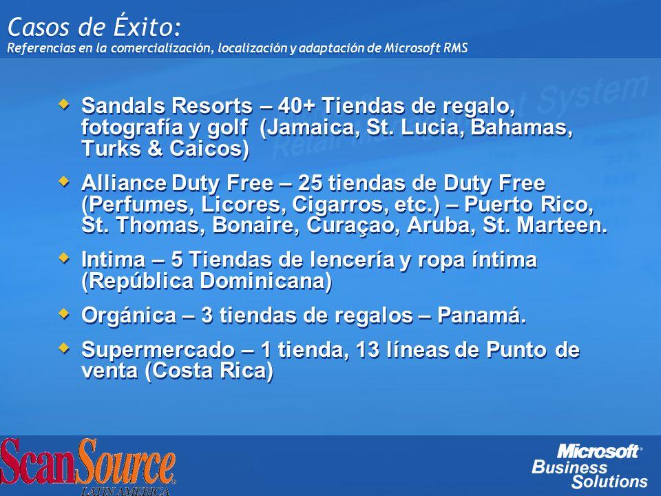 Casos de Éxito: Referencias en la comercialización, localización y adaptación de Microsoft RMS Sandals Resorts – 40+ Tiendas de regalo, fotografía y g
