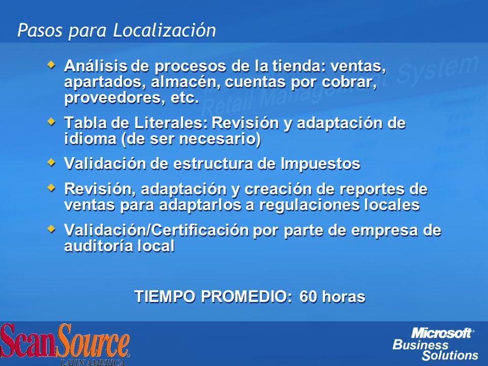 Pasos para Localización Análisis de procesos de la tienda: ventas, apartados, almacén, cuentas por cobrar, proveedores, etc. Tabla de Literales: Revis