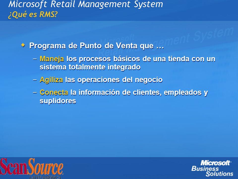 Microsoft Retail Management System ¿ Qué es RMS? Programa de Punto de Venta que … – Maneja los procesos básicos de una tienda con un sistema totalment