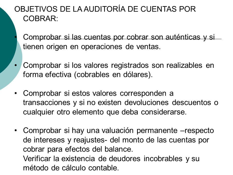 GUZMÁN CPA UMG: AUDITORIA DE CUENTAS POR COBRAR Y OTRAS CONCLUSIONES ...