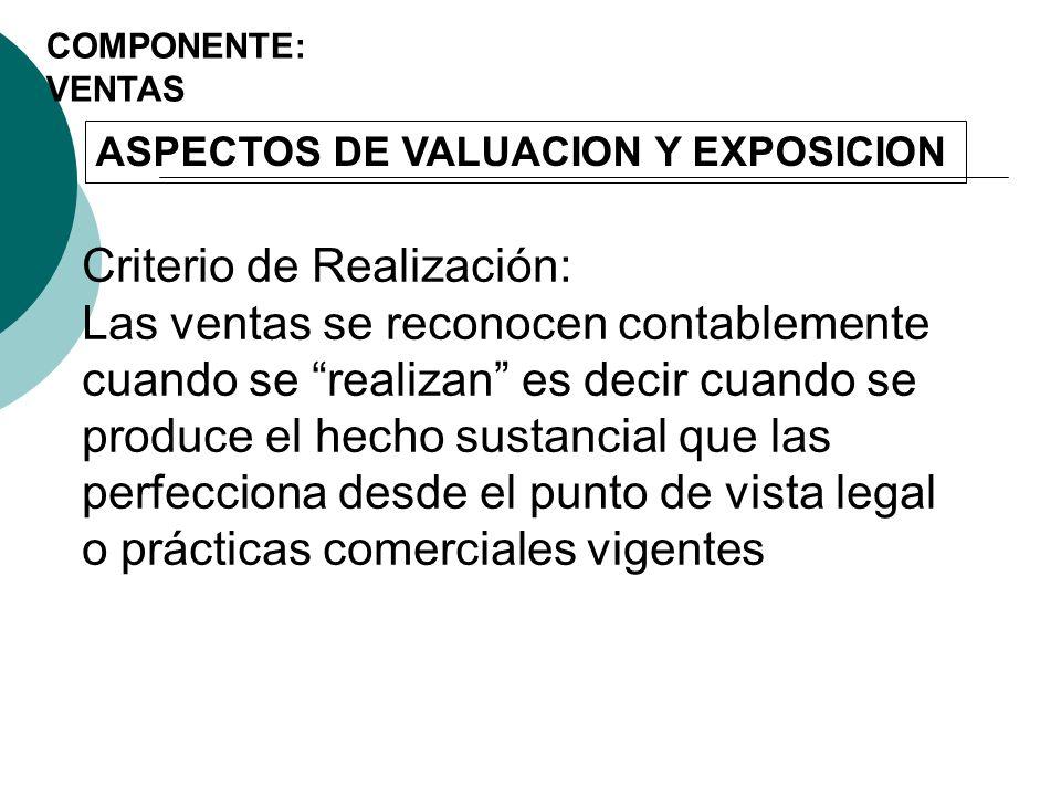 ASPECTOS DE VALUACION Y EXPOSICION 2.