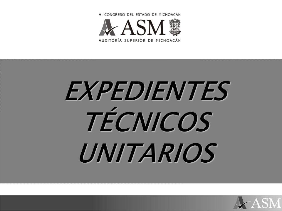 EXPEDIENTES TÉCNICOS UNITARIOS