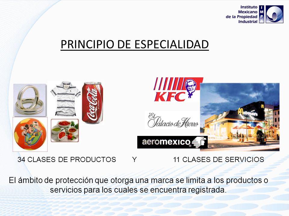 PRINCIPIO DE TERRITORIALIDAD: La protección de una marca es únicamente Nacional, es decir solo es valida en el país donde se protege.