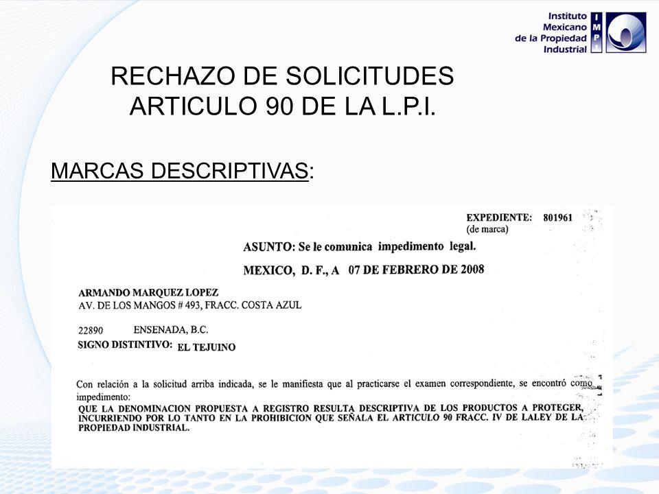 ARTICULO 4 L.P.I.: No se otorgará patente, registro o autorización, ni se dará publicidad en la Gaceta, a ninguna de las figuras o instituciones juríd