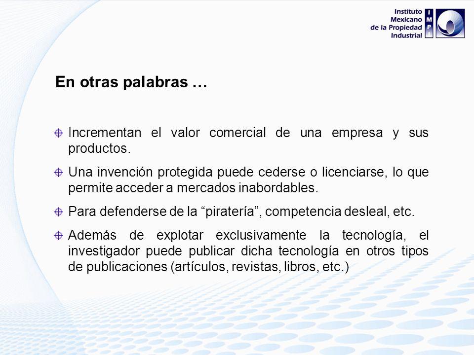 Son importantes las patentes en otras palabras … Se tiene el control de la invención protegida: comercial. Contribuye a obtener un mejor rendimiento d