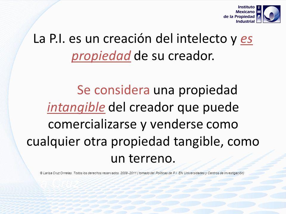 Panorámica De acuerdo a la OMPI*, Propiedad Intelectual son los derechos legales ( exclusivos) resultantes de la actividad intelectual en los campos i