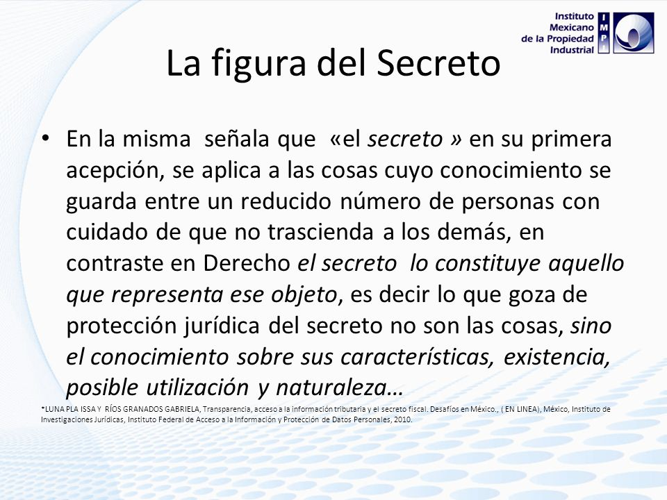 La figura del Secreto