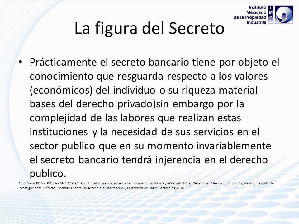 La figura del Secreto Es decir el secreto respecto a protección jurídica es una excepción al interés publico ( sin embargo se sostiene la tesis que el