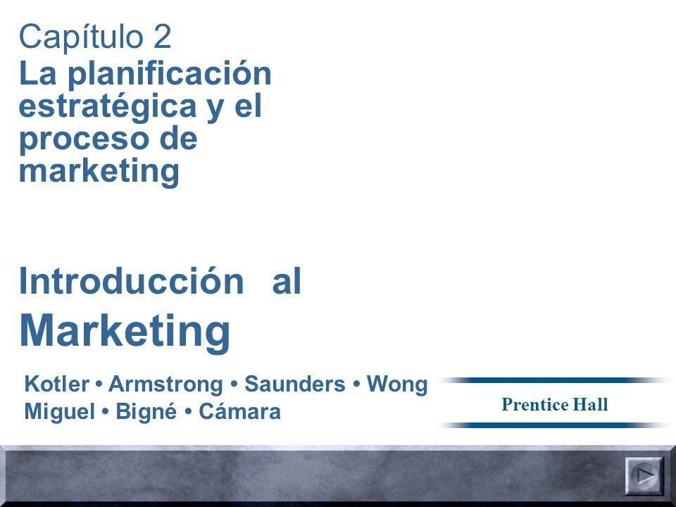 Introducción al Marketing Capítulo 2 La planificación estratégica y el proceso de marketing Kotler Armstrong Saunders Wong Miguel Bigné Cámara Prentice Hall