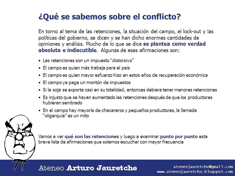 ¿Qué se sabemos sobre el conflicto? En torno al tema de las retenciones, la situación del campo, el lock-out y las políticas del gobierno, se dicen y