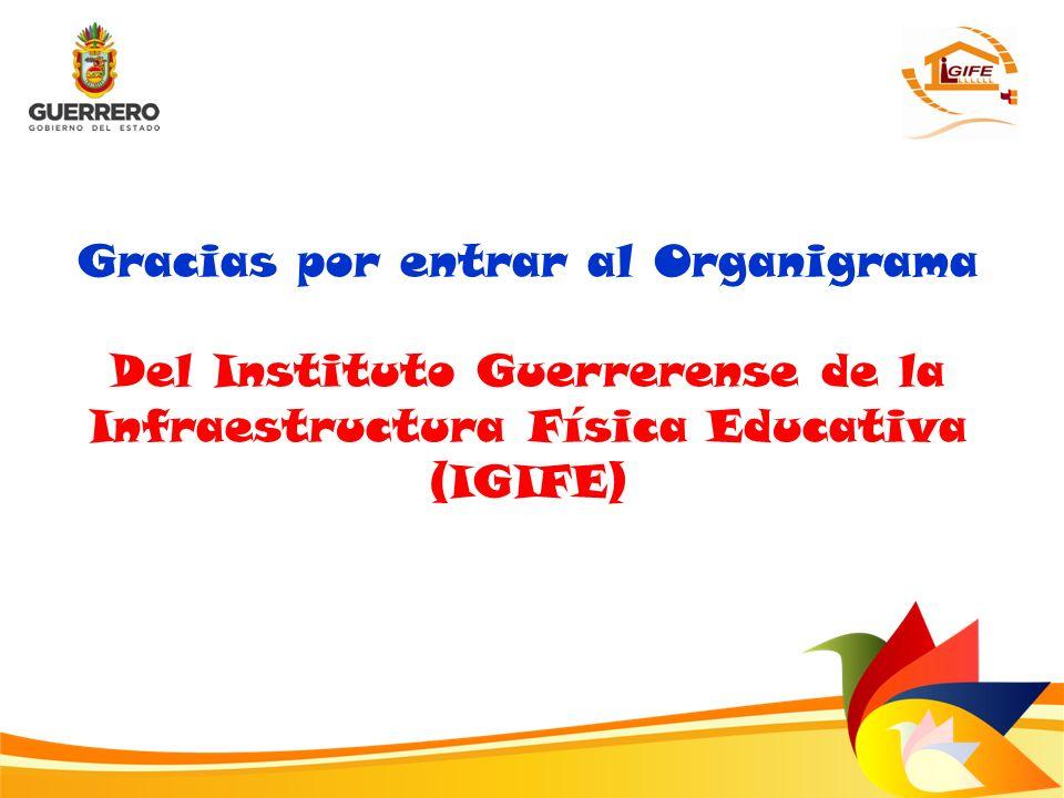 Gracias por entrar al Organigrama Del Instituto Guerrerense de la Infraestructura Física Educativa (IGIFE)