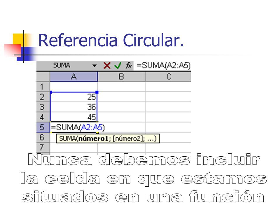 Referencia Circular. Es un error muy común