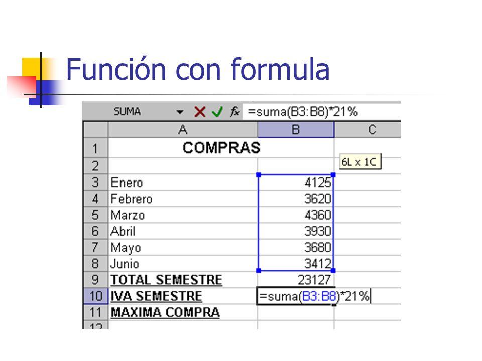 Función con formula