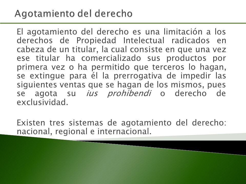 ADPIC Artículo 6.Agotamiento de los derechos.