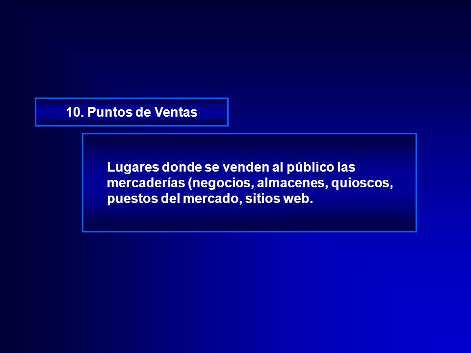 9. Representativos de Ventas Alguien que contacta a los clientes existentes y potenciales, trata de persuadirlos para que compren bienes o servicios.
