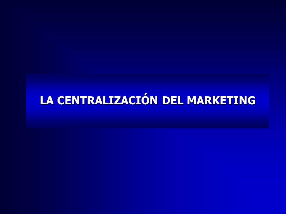 LA CENTRALIZACIÓN DEL MARKETING